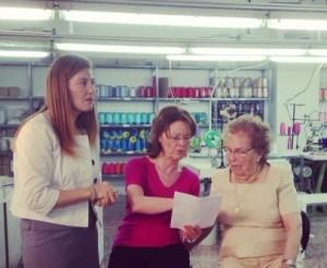 Rodaje de Entrevistas de Trabajo del Plan de Empleo de Cruz Roja con Dolores Cortes