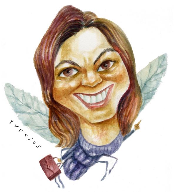 Caricatura de Ana Maiques por Turcios para la campaña